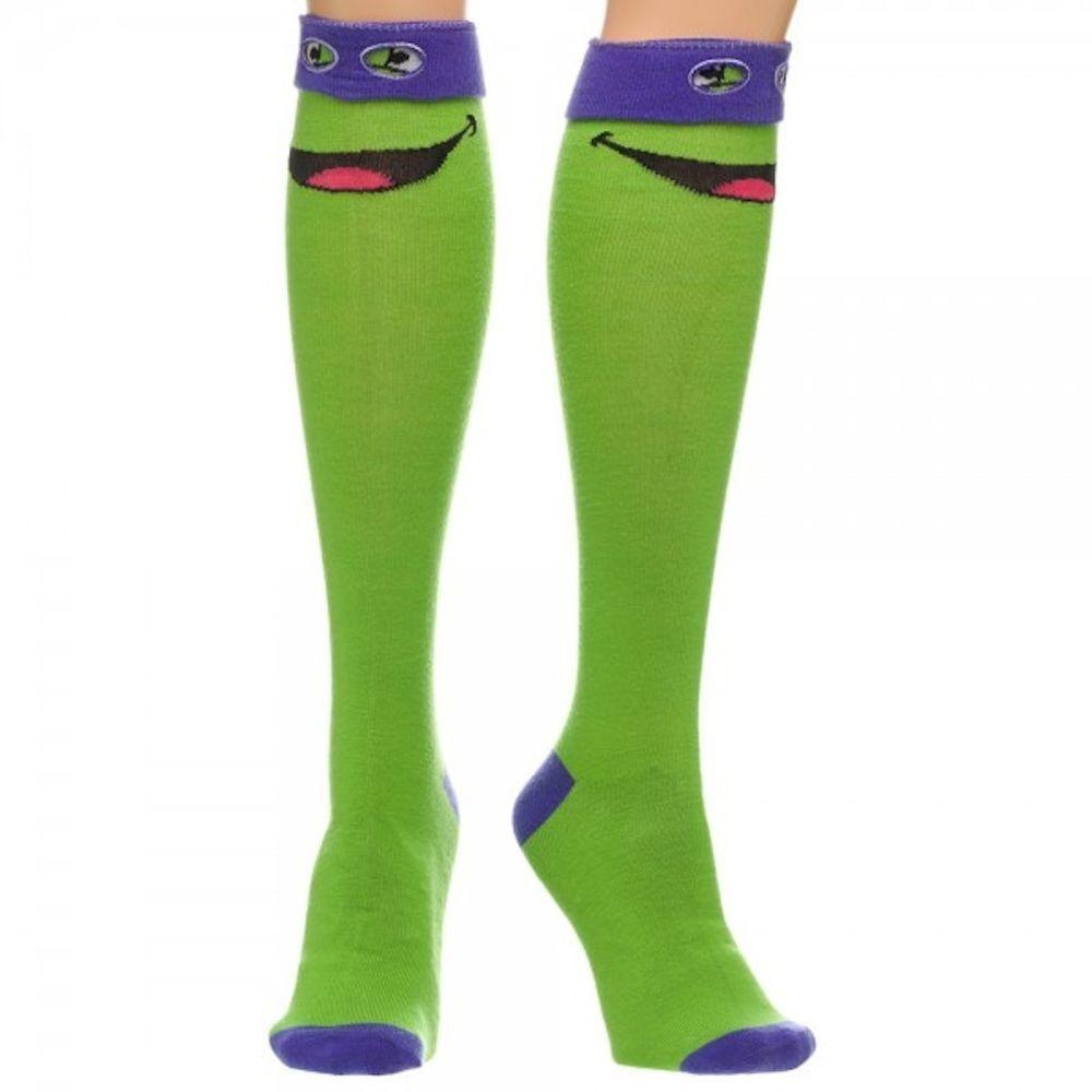 33ac6bac1afa Teenage Mutant Ninja Turtles TMNT Donatello Purple Mask Knee High Socks New  #Bioworld #kneehigh