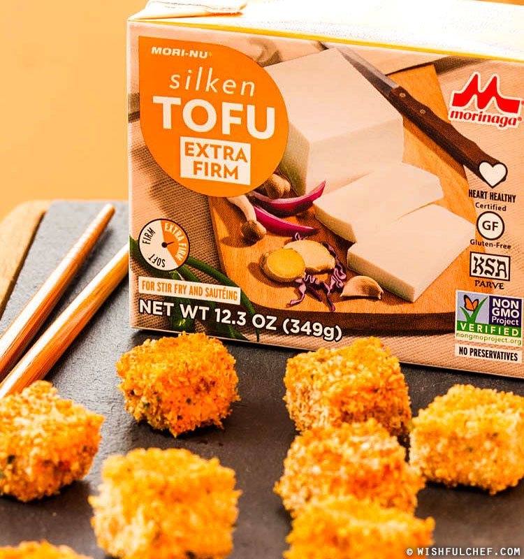 Crunchy & Spicy Baked Tofu Nuggets