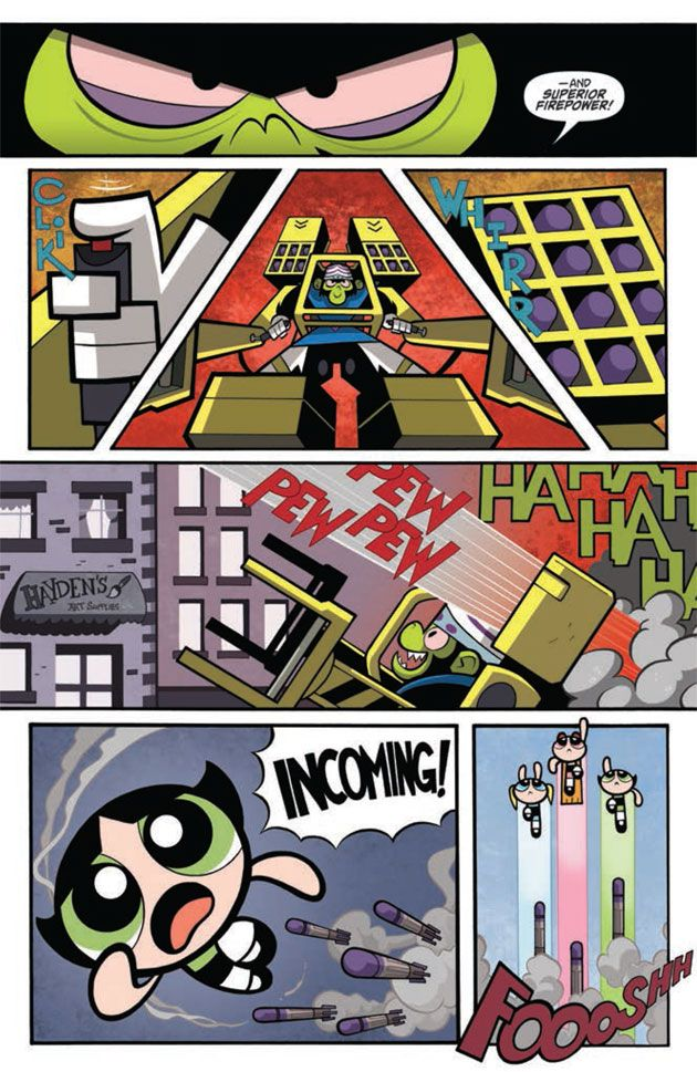 The Powerpuff Girls #1 Preview IDW page 5