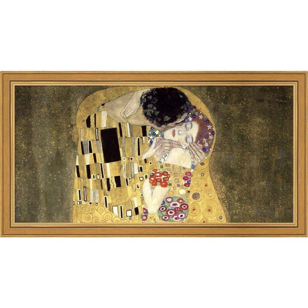 Gustav Klimt \'The Kiss\' Framed Canvas Art by NA   Art, Klimt and ...