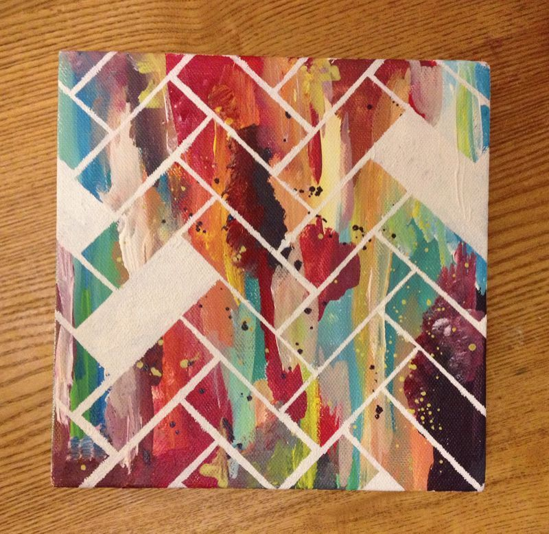 d i y canvas artwork is part of Simple wall art - D I Y CANVAS ARTWORK Geometricart DIY