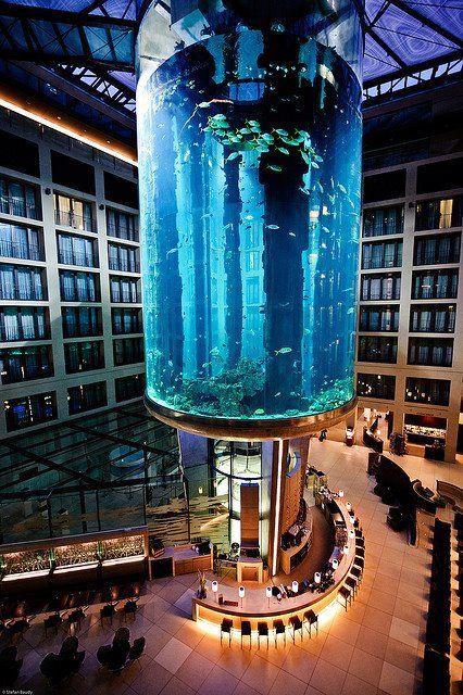 Aquarium In The Berlin Radisson Sas Hotel Berlin Germany Berlin Germany