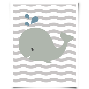 enjoy this free printable whale wall art it is a friendly gray whale on a chevron background