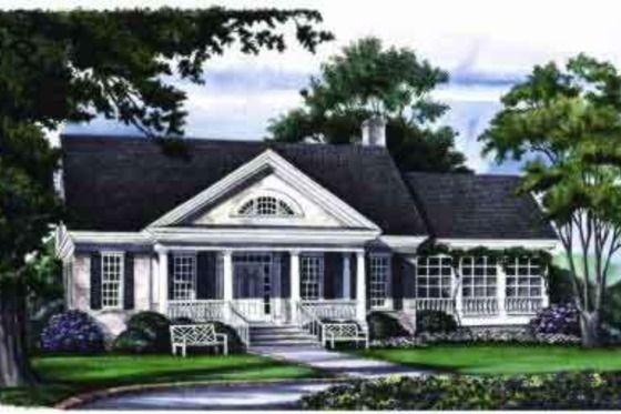 Southern Style House Plan 3 Beds 2 Baths 2630 Sq Ft Plan 137 167 One Level House Plans Colonial House Plans Cottage House Plans
