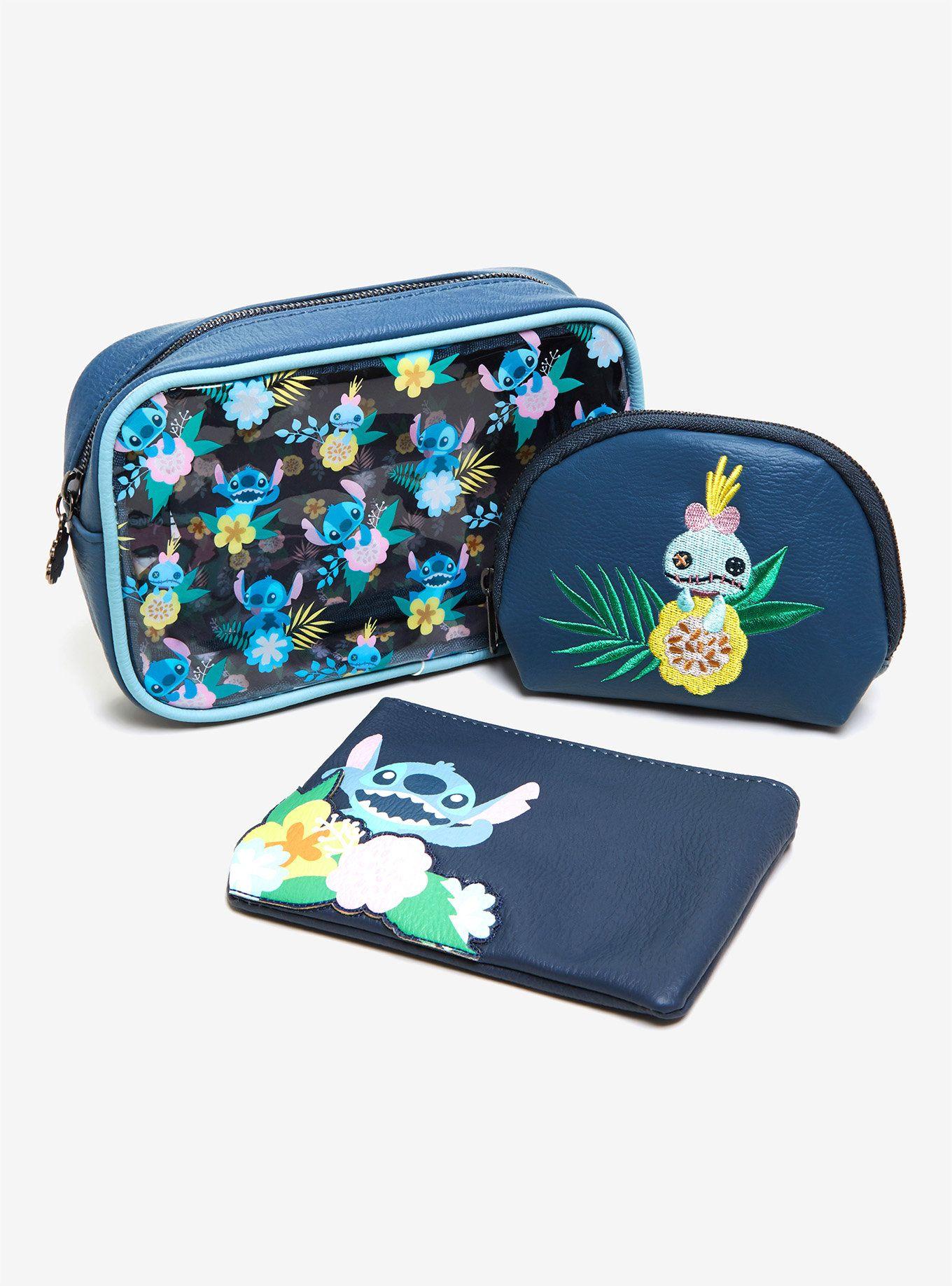 Loungefly Disney Lilo & Stitch Floral Makeup Bag Set