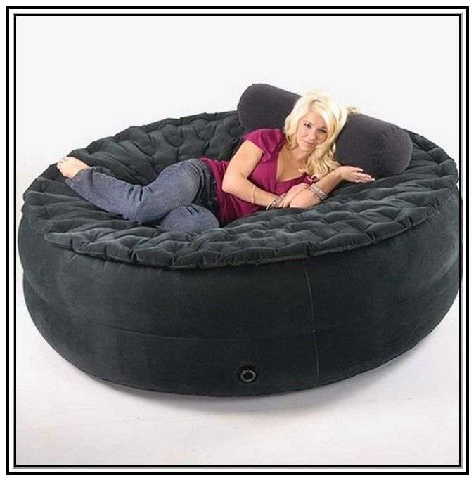 Bean Bag Couch With Pillow And Blanket  future home