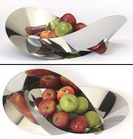 unusual fruit bowl made from a flat sheet of steel which is then warped and knotted into itself bowl designs fruit holder dishware design unusual fruit bowl made from a flat
