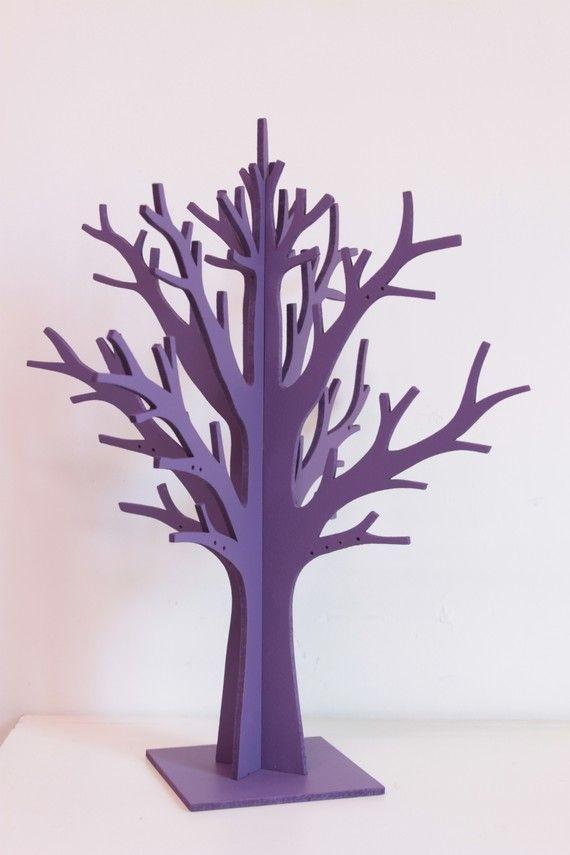 Arbre A Bijoux Branche Violet Arbre A Bijoux Arbre En Carton Pochoir Noel