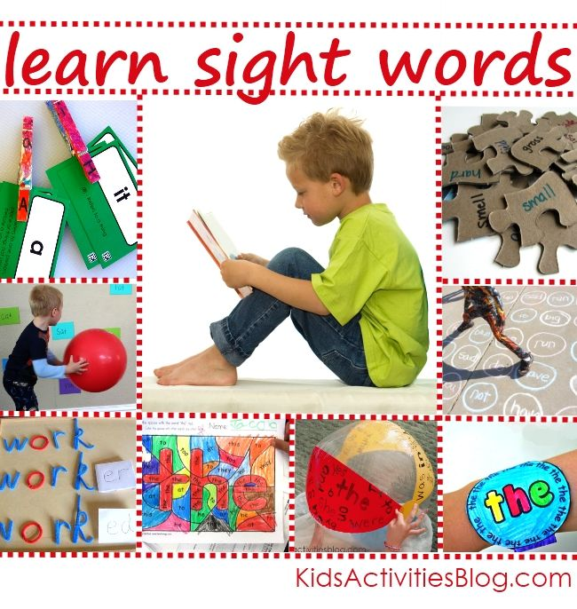 beginning words for kids - Sight words kindergarten, Activities for kids, Kids activities blog, Kids, Activities, Kids learning - We use a mix of phonics and sight words with our homeschooling kids  I have found that helping kids learn how to read with phonics gives them a