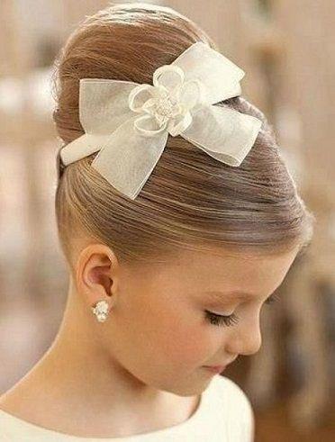 Impresionante peinados para niñas de comunion Imagen De Consejos De Color De Pelo - Peinados con Moño para Niñas 2015 | Peinados primera ...