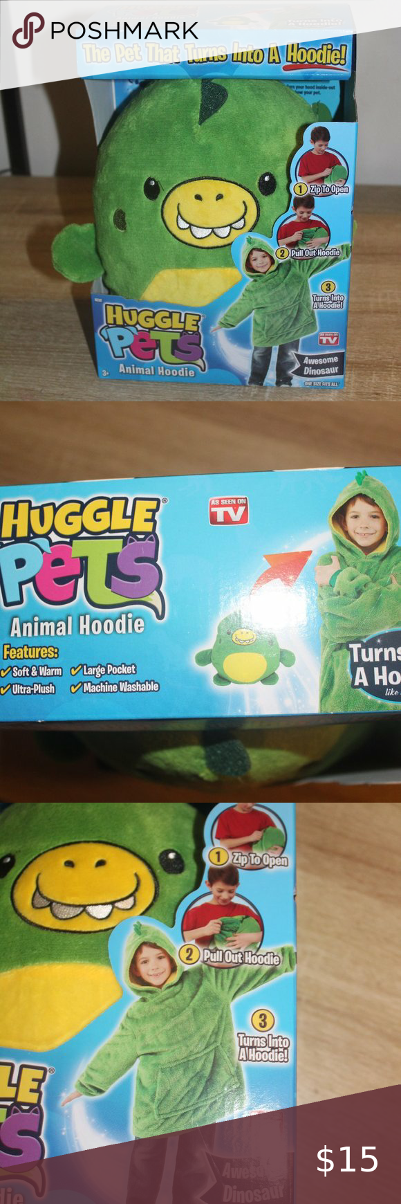 Huggle Pets Animal Hoodie Dinosaur In 2020 Animal Hoodie Soft Hoodie Tv Shirts