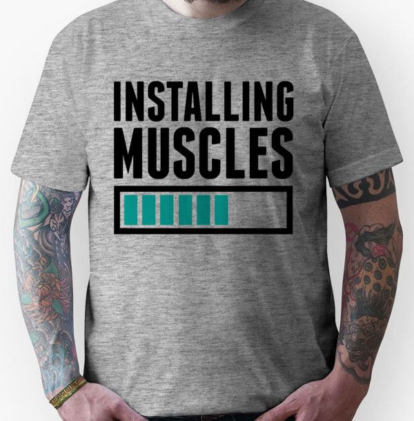 Loading Muscles – Nerd, Gamer, Geek Workout Shirts on RedBubble » TShirt Syndicate Where all the good shirts go