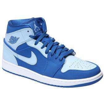 5e104de7ae Men's Royal/Light Blue Air Jordan 1 Mid Shoes | shoes | Sneakers ...