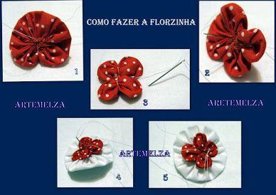 ARTEMELZA -  Arte e Artesanato: Passo a passo - niqueleira de fuxico | Step by…