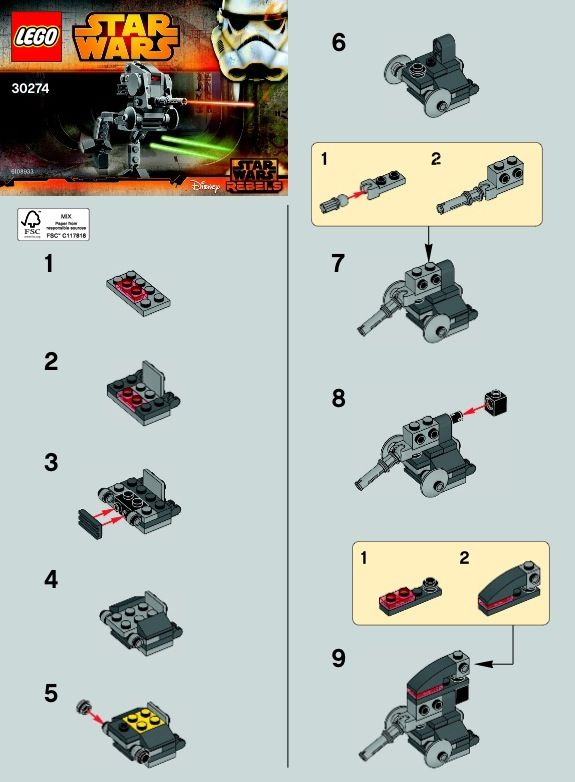 1ar Wars At Dp Lego 30274 Lego Instructions Pinterest