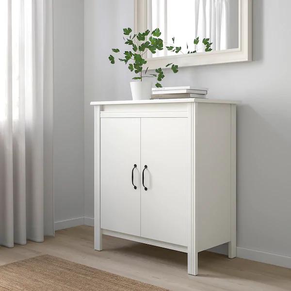 Brusali Cabinet With Doors White 31 1 2x36 5 8 Learn More Ikea In 2020 Schrankturen Hausmobel Esszimmerschrank