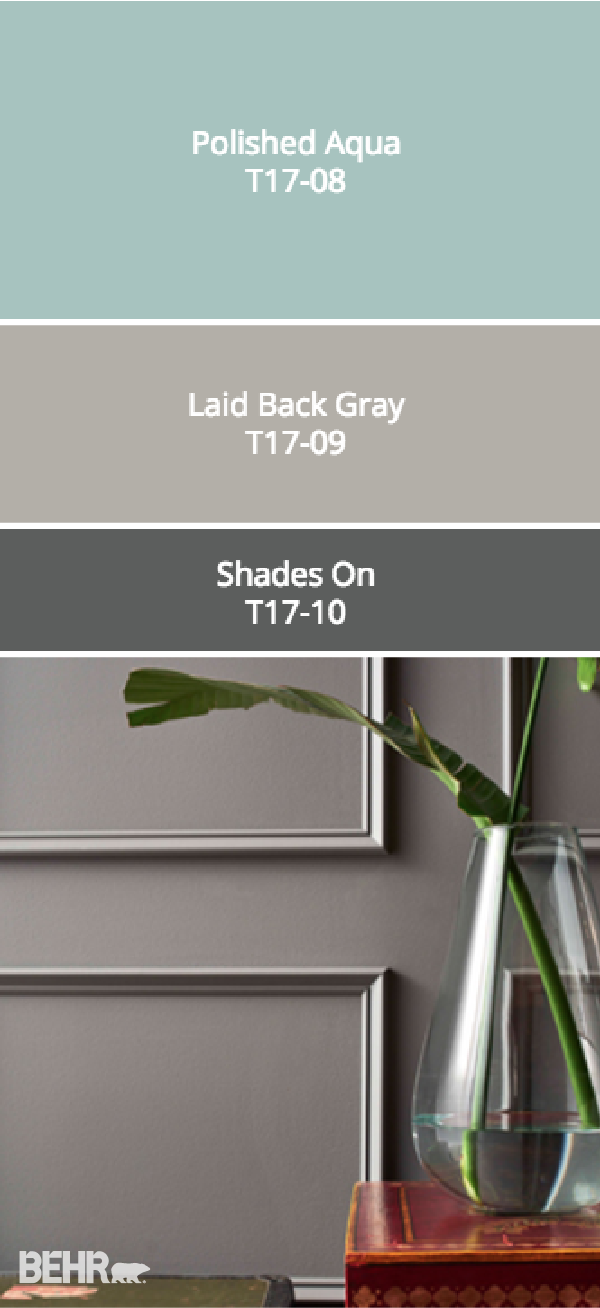 Check out this moody gray color palette from behr s - Trending exterior house colors 2017 ...