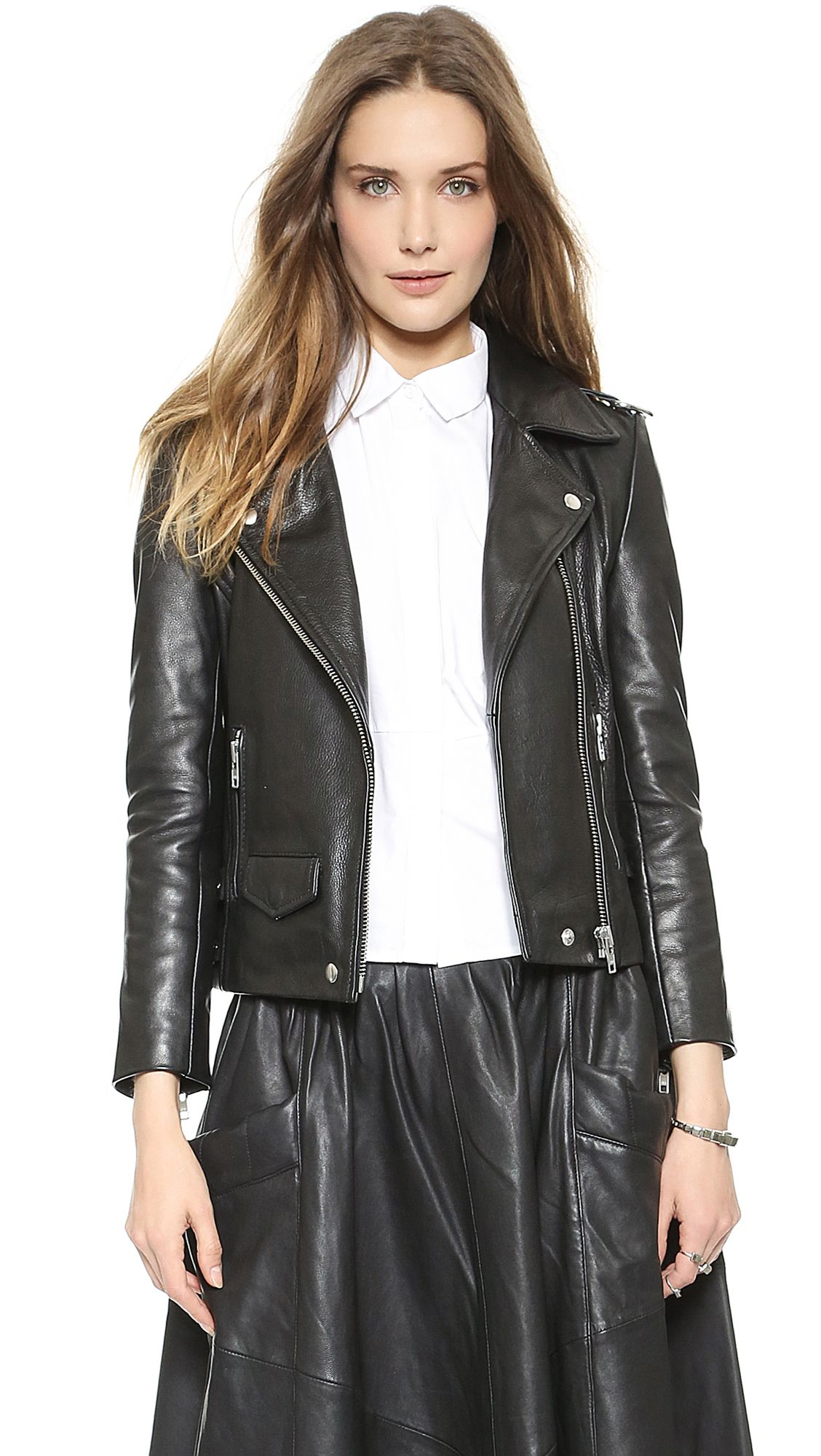Buy OAK Women's Rider Leather Jacket Black, starting at