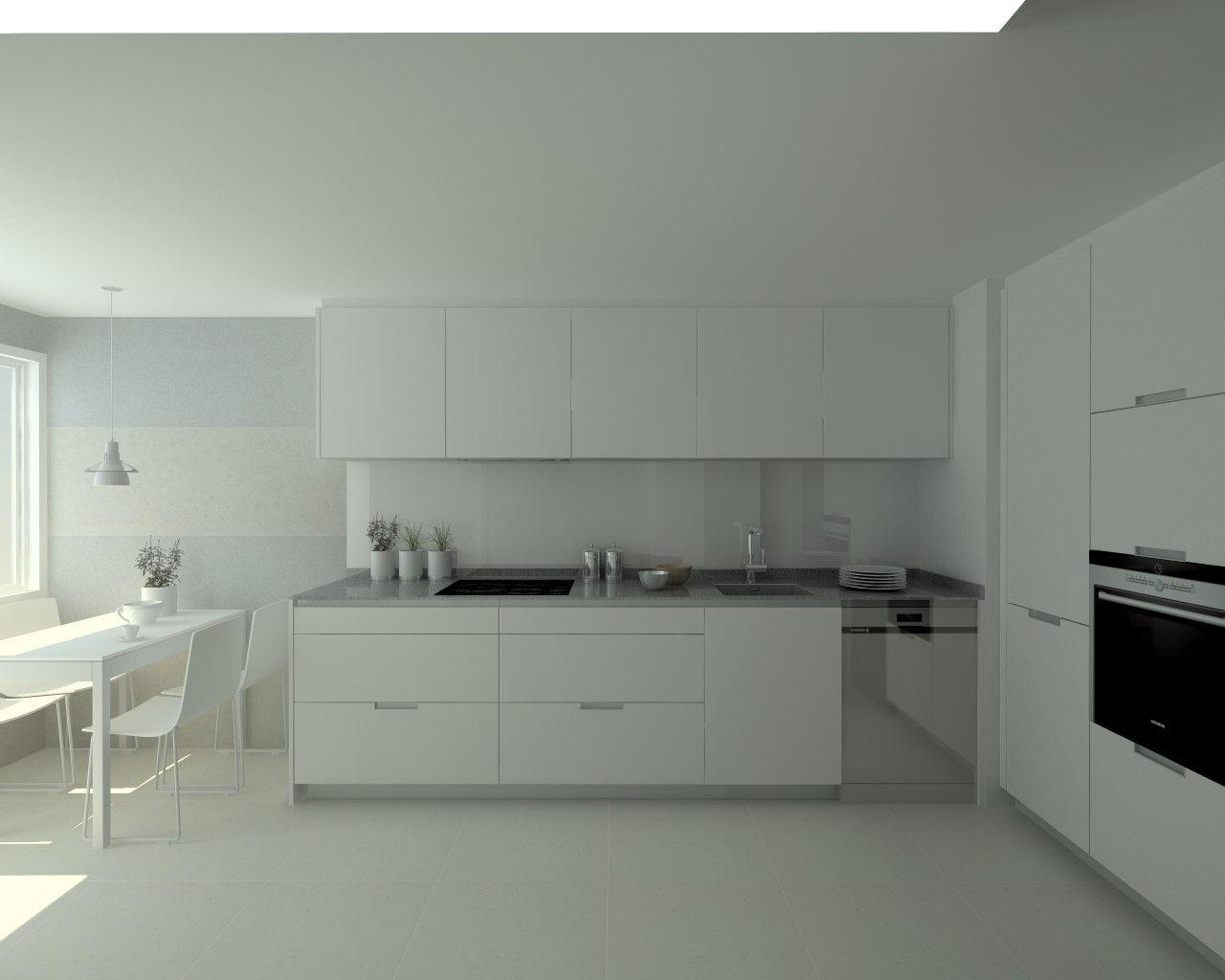 Modelo minos estratificado blanco perla encimera compac for Idea deco para cocina gris