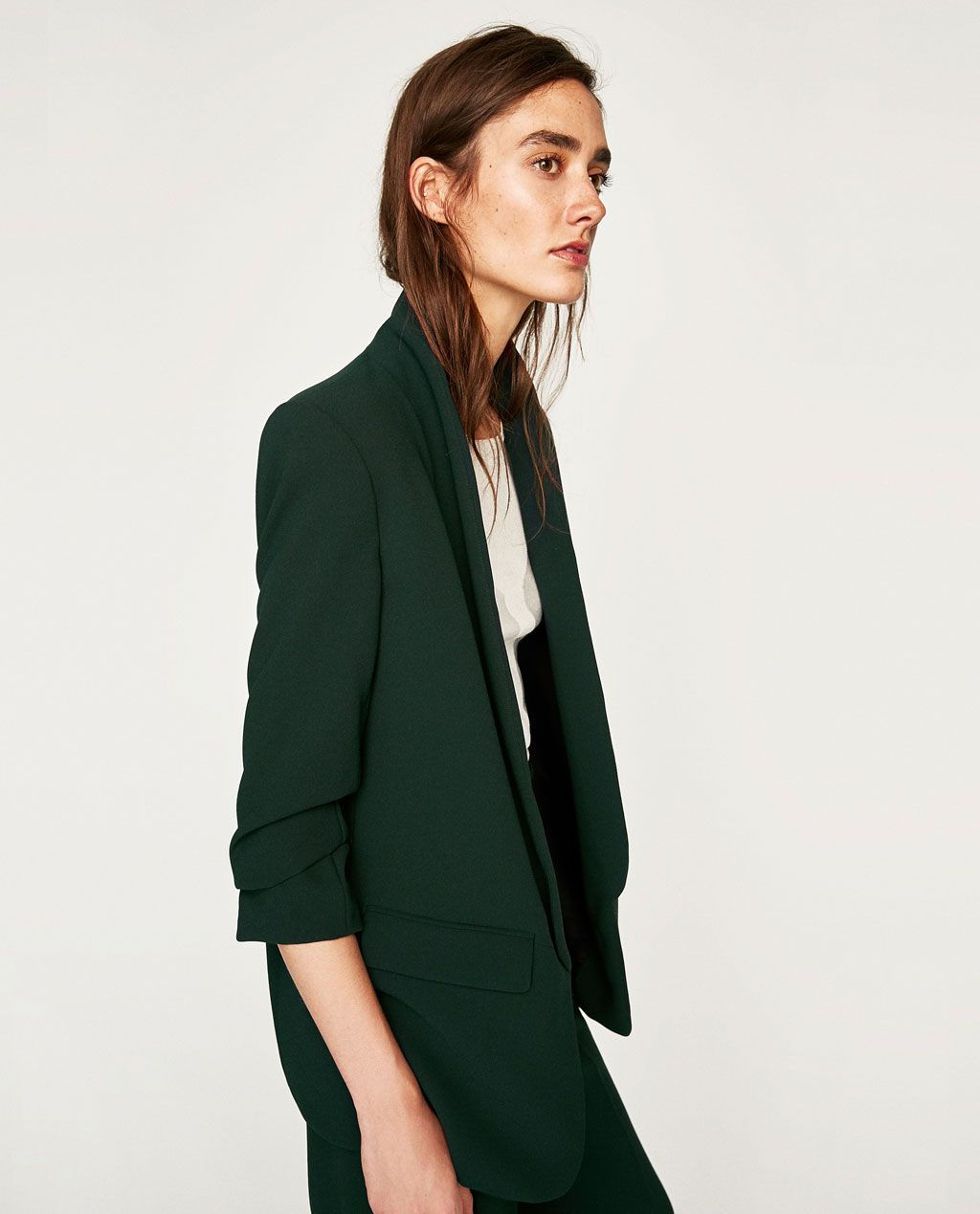 new product 1e89a c1214 ROLL-UP SLEEVE JACKET-BLAZERS-WOMAN   ZARA in Size X-Small