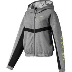 Photo of Puma Damen Sweat-Jacke Hit Feel It Sweat Jacket, Größe L In Medium Gray Heather, Größe L In Medium G