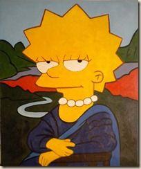 Monna Lisa Simpson Art Pop El Grito Pintura Lienzos Pintados