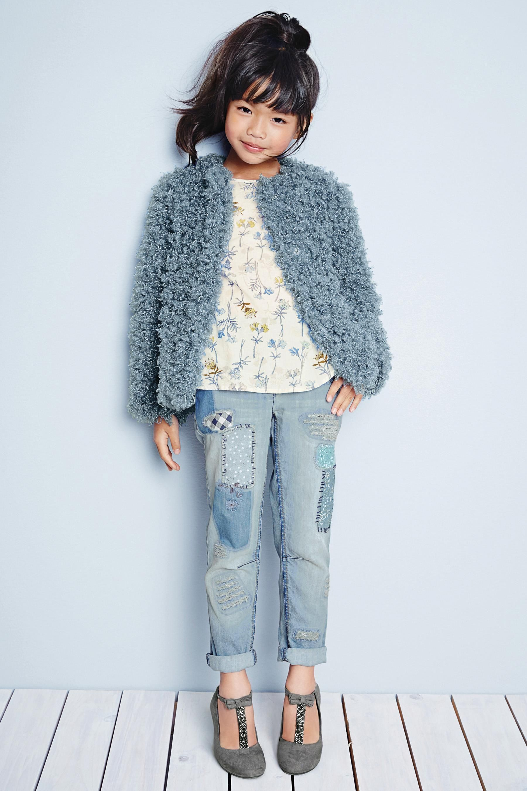 76511b42cb Buy Curly Faux Fur Jacket (3-16yrs) from the Next UK online shop | l ...
