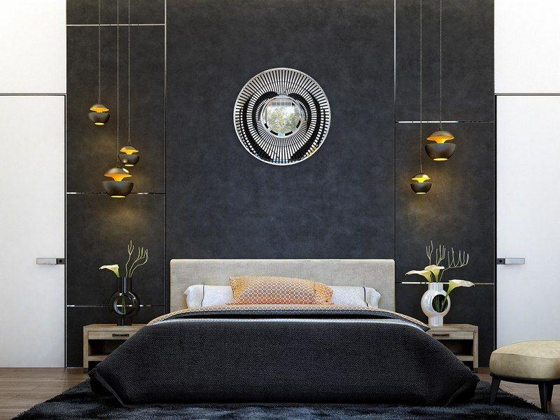 Décoration chambre adulte - textures, art et luminaires ...