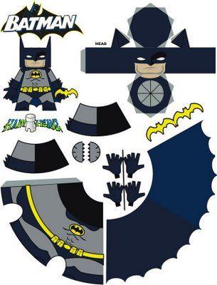 super heroes crafts modelos y plantillas de badman recortables te