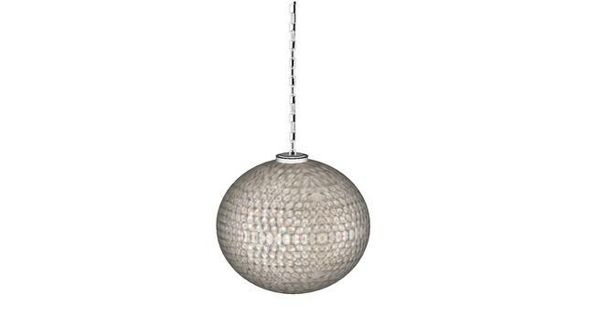 35147 Pendant Lamp Crystal Ball 61cm Hl Crystal Ball 61cm đen