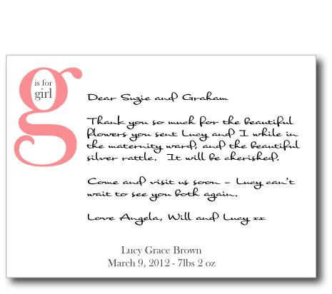 Maternity Thank You Notes Note Couture Personal And Personalised