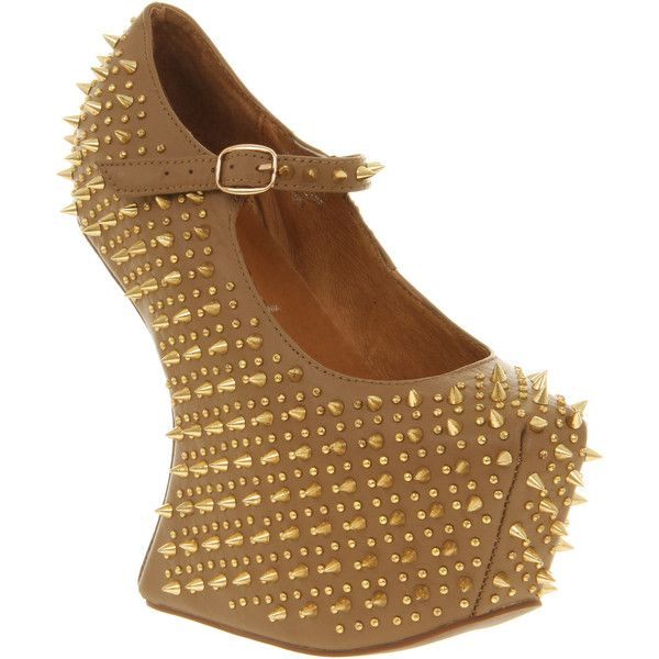 Jeffrey Campbell Prickly black leather ($220) ❤ liked on Polyvore