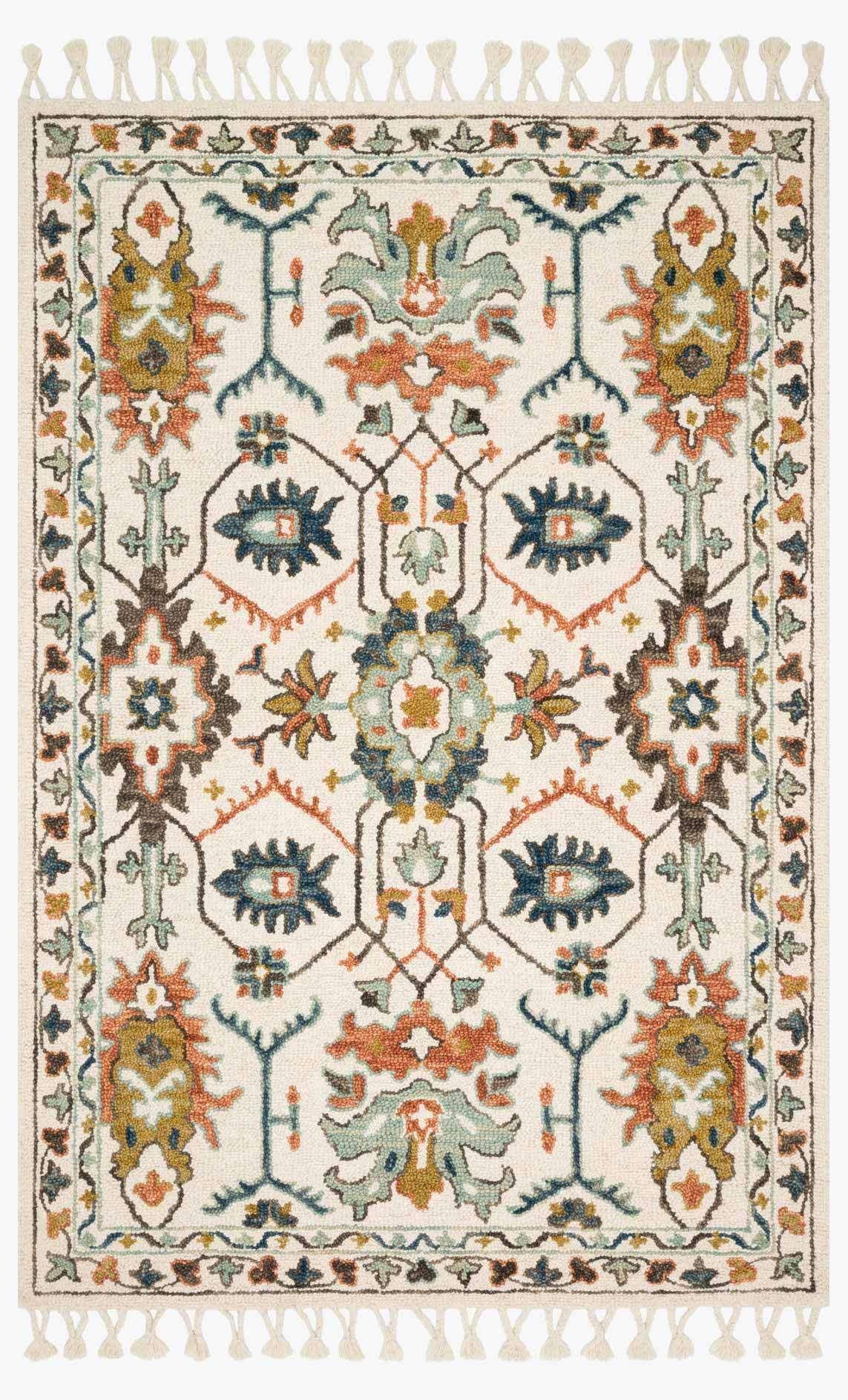 Magnolia Home Kasuri KB-05 Ivory / Tuscan Clay Area Rug2'-6 X 7'-6