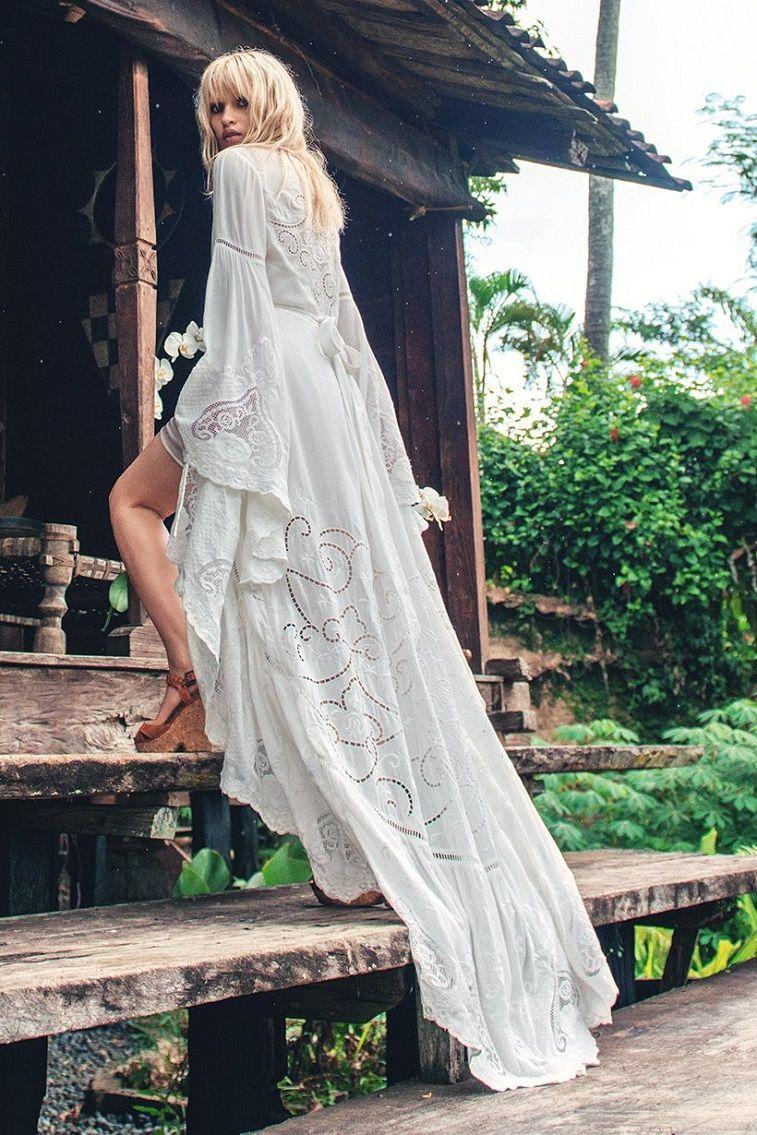 Bohemian Wedding Dress With Feminine Touch