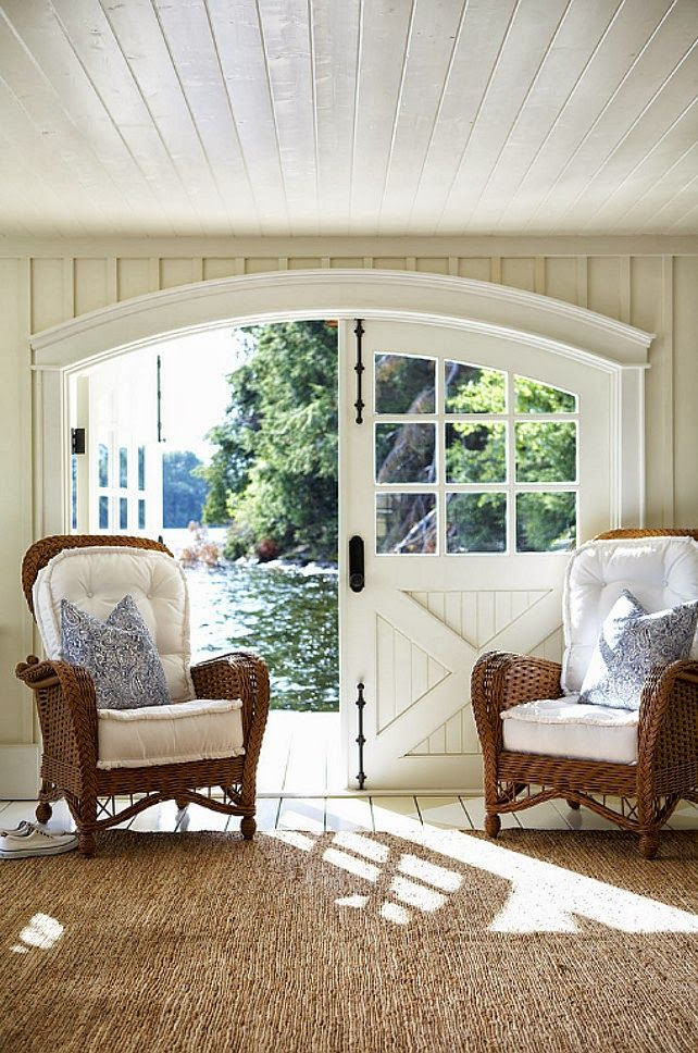 Muskoka Lake Cottage love the doors