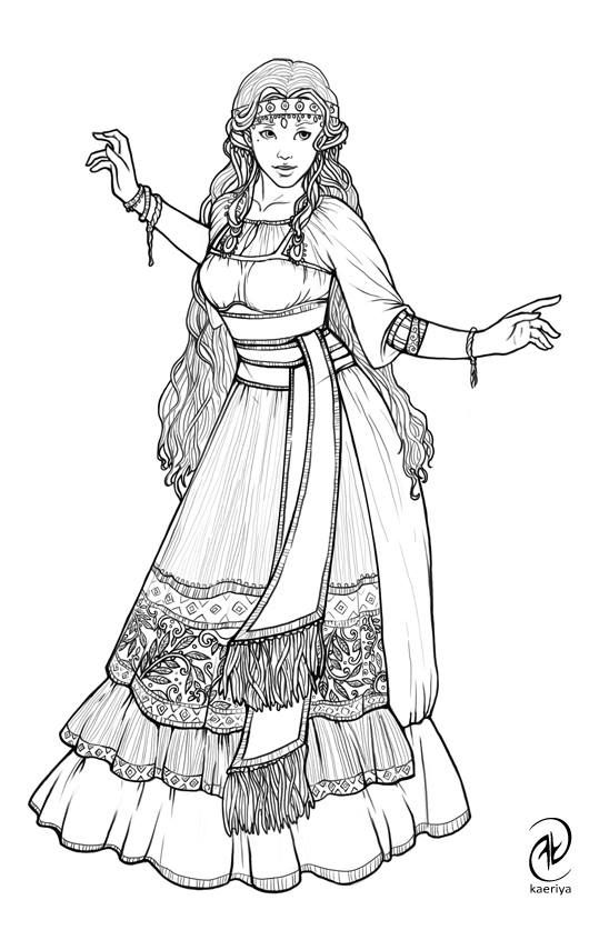 Pin By Wendi Coats On Kew Coloring Pages For Grown Ups Fashion Illustration Colouring Pages