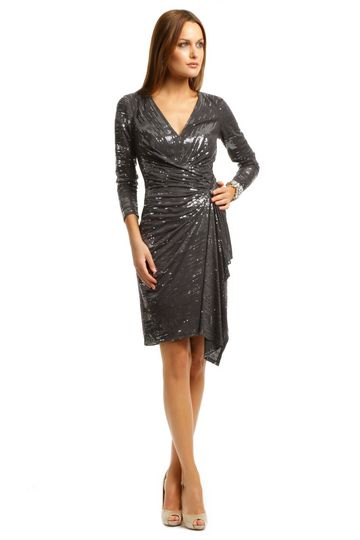 sophisticated sequin dress from David Meister  $75