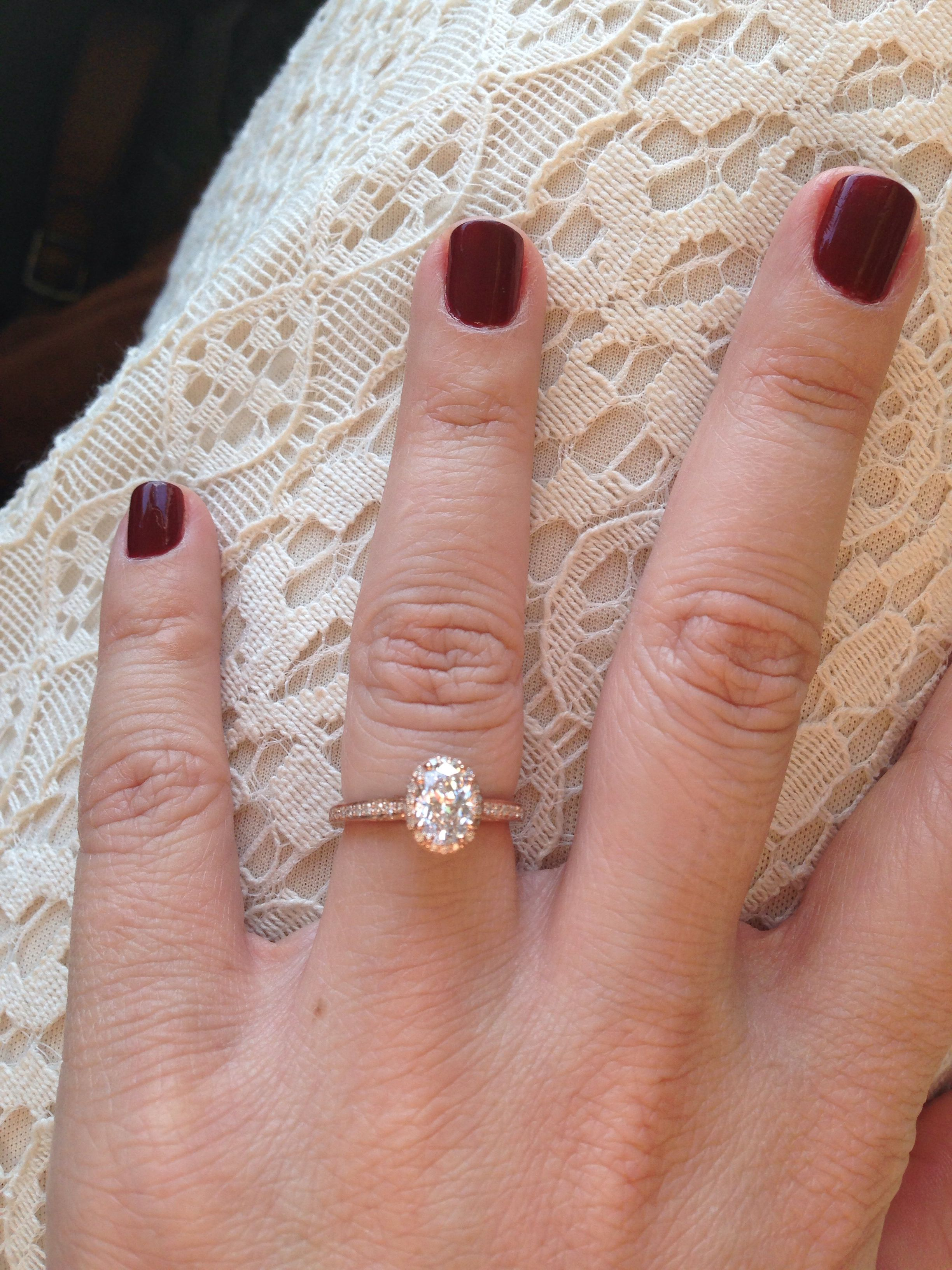 Tacori oval in rose gold Ring Bling Pinterest