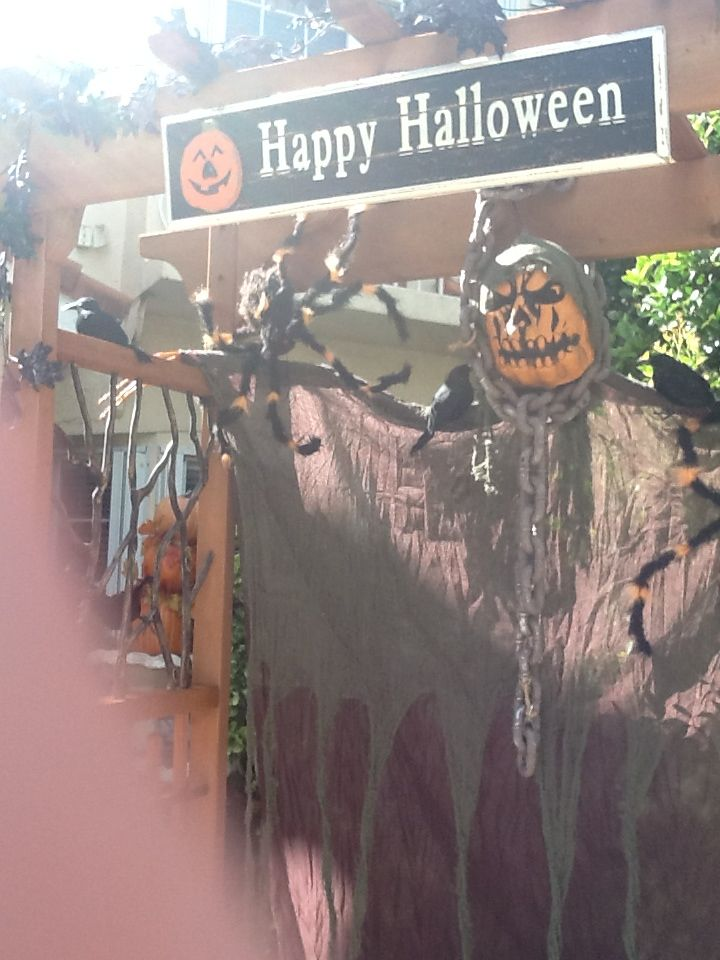 Halloween arbor at home!!
