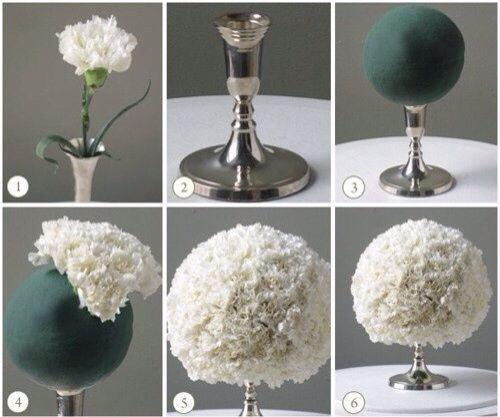Omg I Can Find All Of This Stuff At The Dollar Store Eeeeeeee D Decoration For House Carnation Centerpieces Wedding Centerpieces Diy Diy Wedding