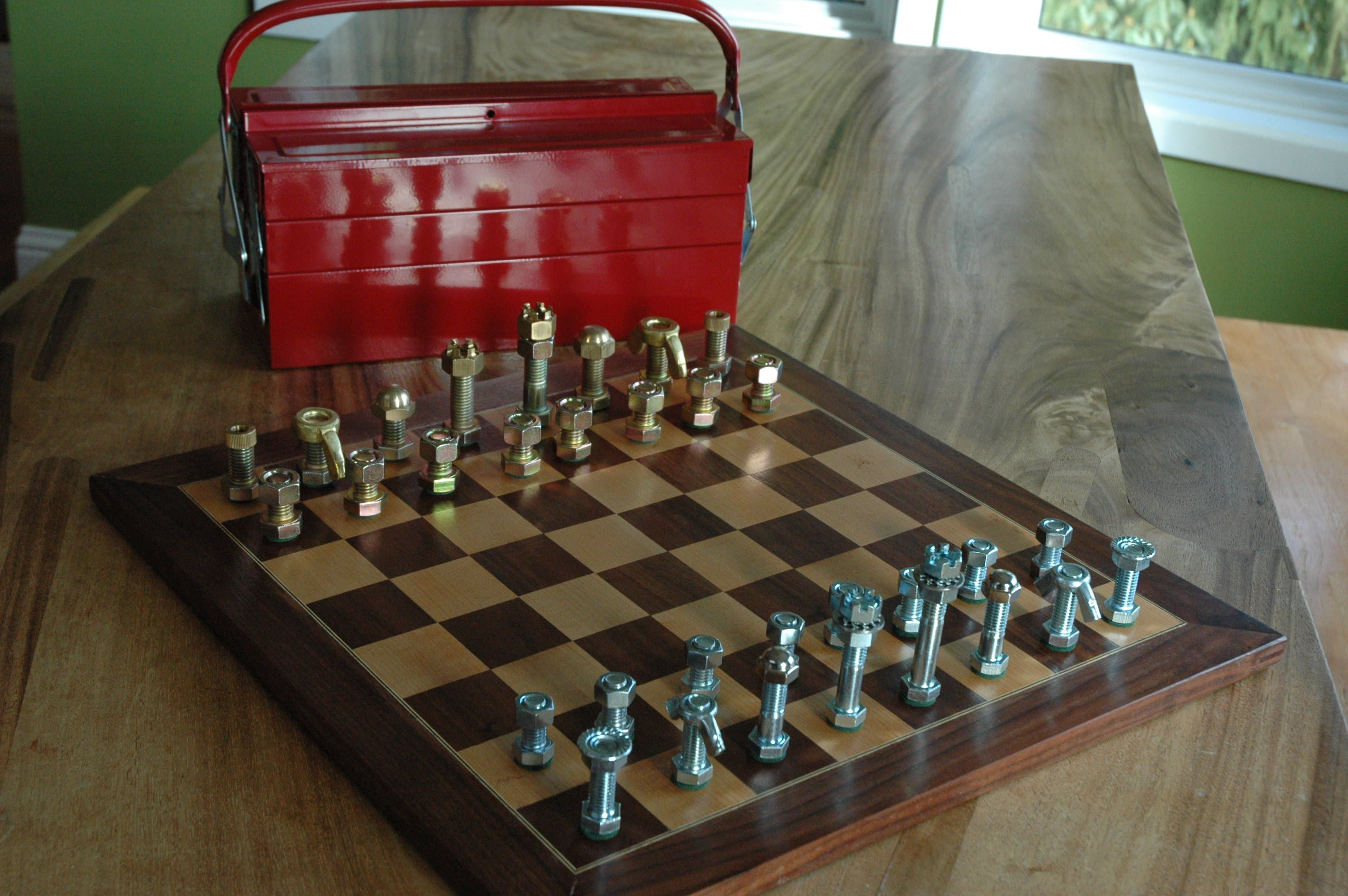 Nuts And Bolt Chess Set