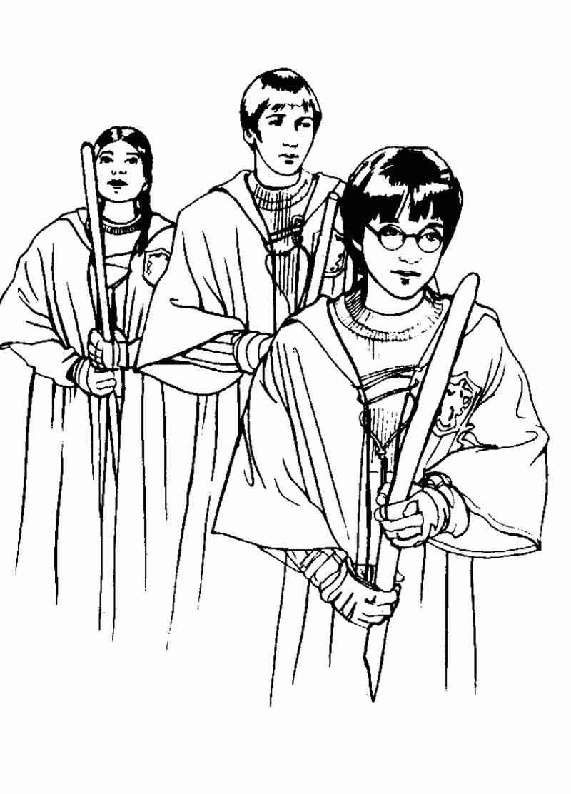 Harry Potter Coloring Pages Printable from Movie Coloring Pages category.  Find out more nice im… in 2020 | Bunny coloring pages, Harry potter  coloring pages, Coloring pages