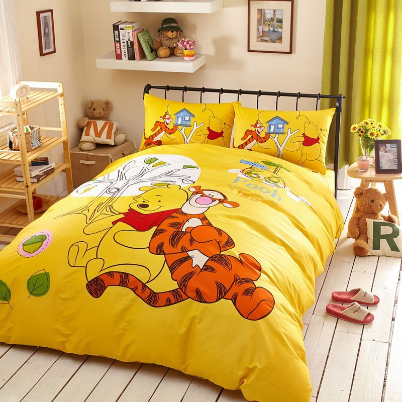 Tigger Winnie The Pooh Bedding Set Twin Queen Size Luxury Bedding Master Bedroom Twin Bed Sets Childrens Bedroom Decor