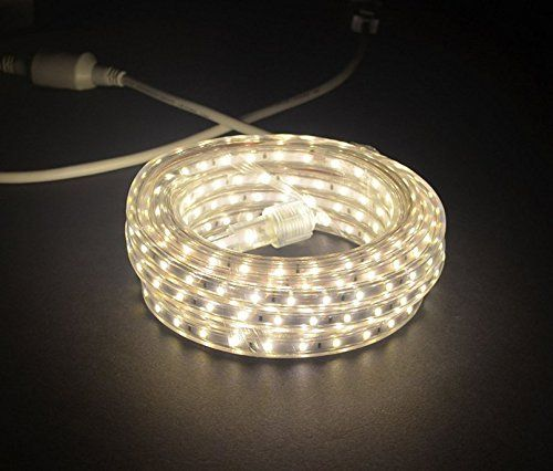 Cbconcept Ul Listed 13 Feet 1400 Lumen 4000k Soft White Dimmable 120v Ac Flexible Flat Led Strip Rope Light Waterproo Flexible Flats Rope Light Led Rope Lights