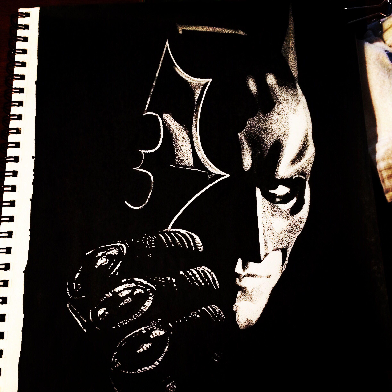 Batman drawing in pen that I drew