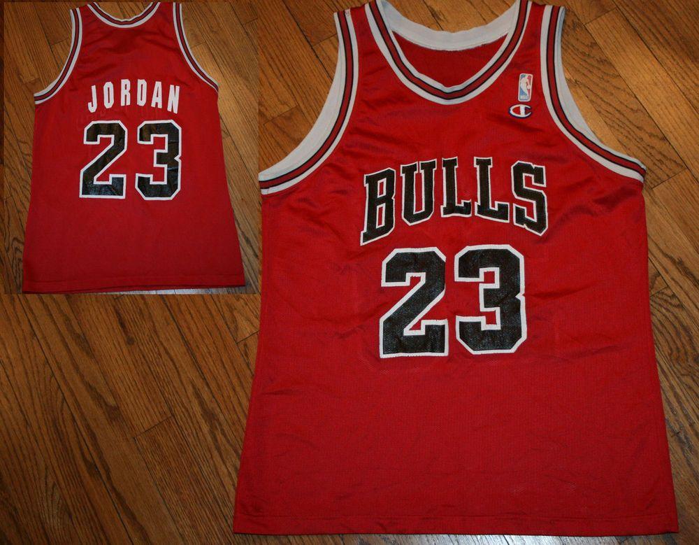 9bac2c74af7 ... greece vintage chicago bulls michael jordan 23 champion basketball  jersey adult size champion chicagobulls 125ed b597f
