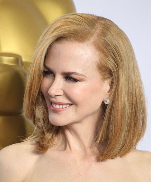 Nicole Kidman Medium Straight Light Copper Red Bob Haircut Bob Hairstyles Straight Bob Hairstyles Bobs Haircuts