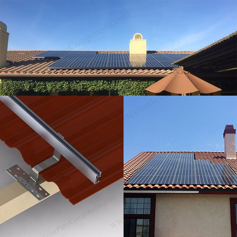 Installation Of Clay Tile Roof Hook In 2020 Solar Roof Solar Tiles