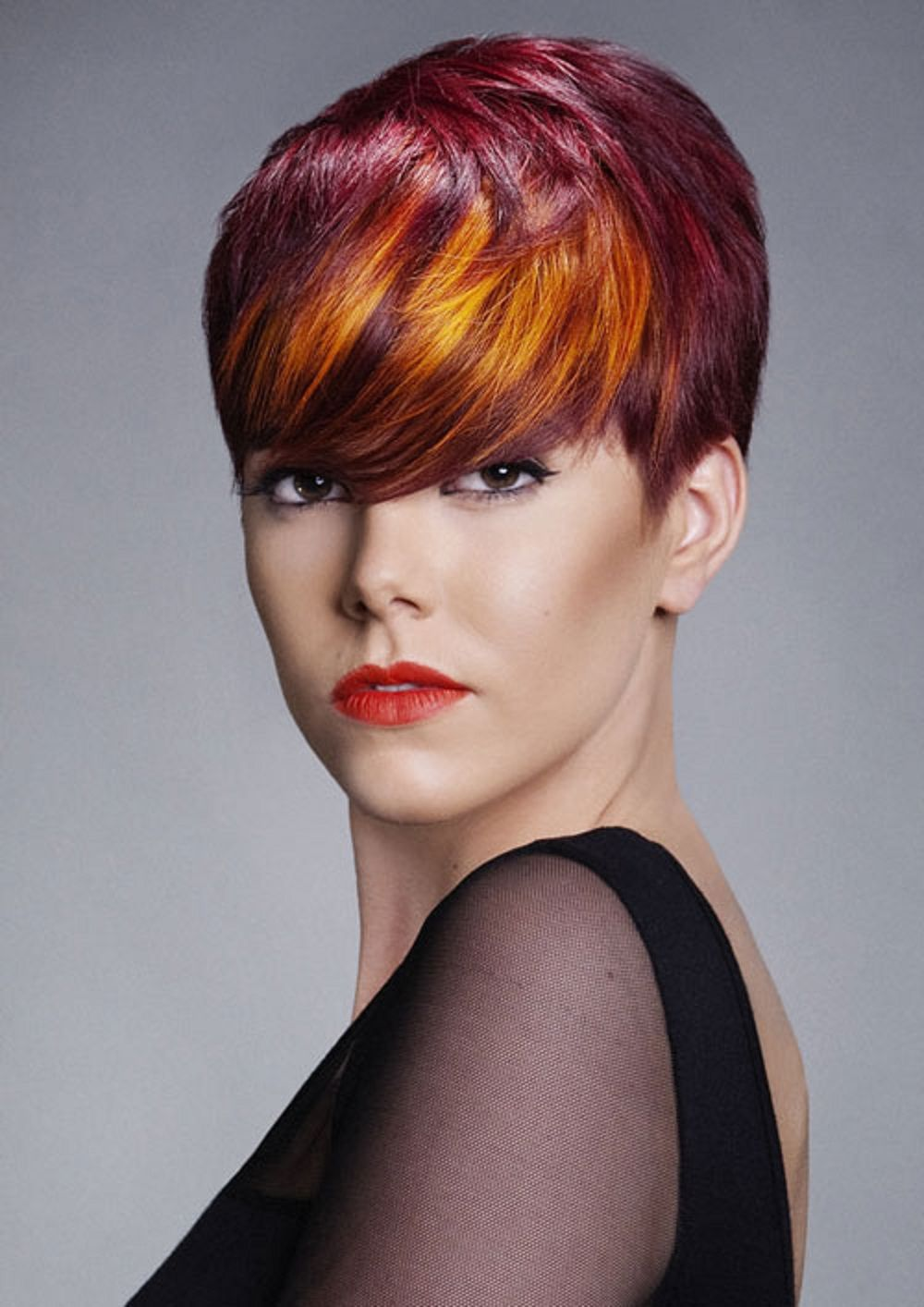 Red hair color for short hair ℋairstyles coiffure