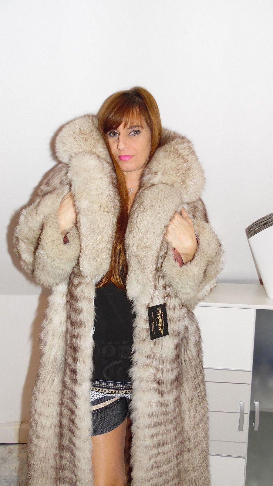 Fox Coat Päls Fuchsjacke Pelzmantel Polar Silver Pelz Fur qUzVMSp